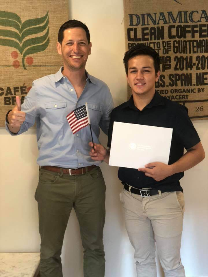 Congratulations to our client, who just went from undocumented immigrant to citizen