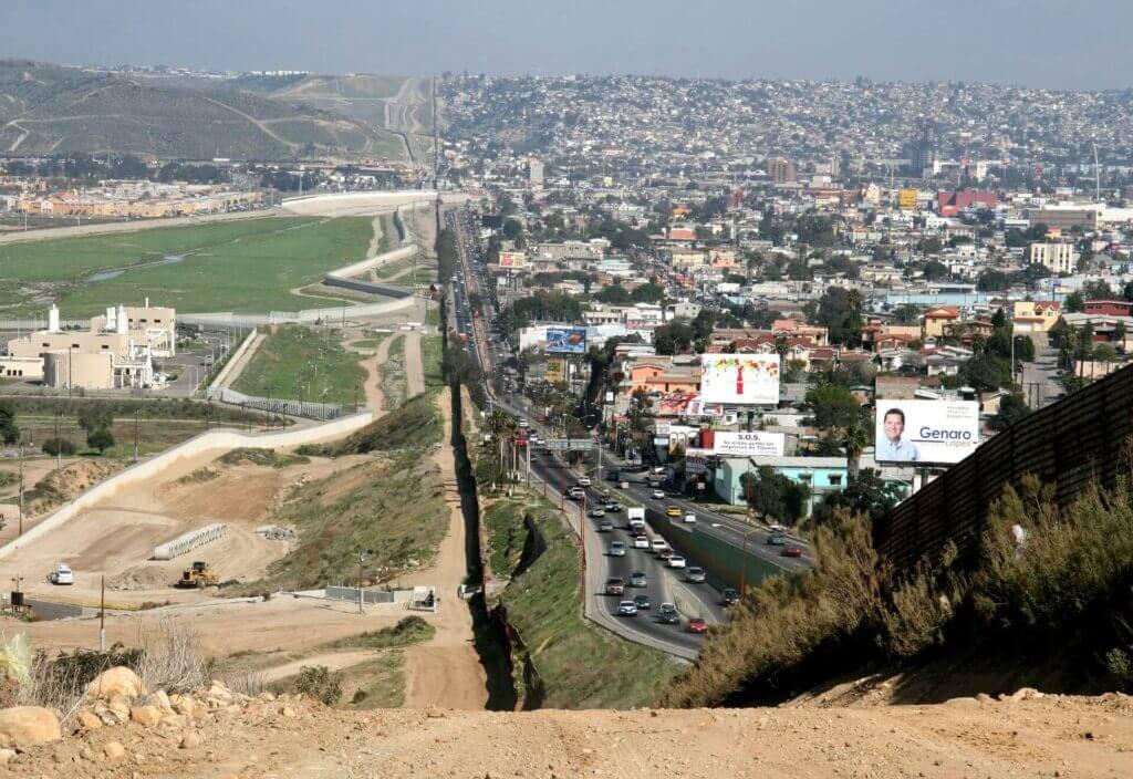 Fotografía de la frontera México Estados Unidos